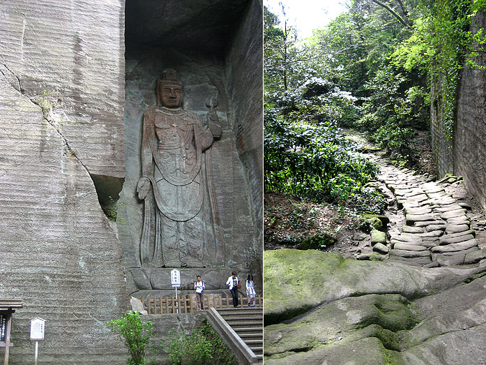 Hyaku-shaku Kannon Statue with a height of 30m in Chiba