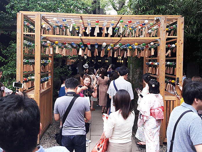 Corridor of Marriage Wind Chimes at Hikawa Shrine