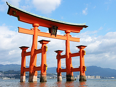 Torii Itsukushima Shinto Shrine