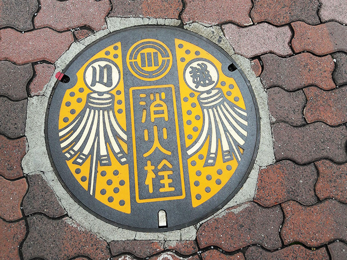 Manhole Cover Warehouse District in Kawagoe