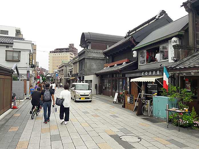 Old Warehouses Taisho-roman Street in Kawagoe