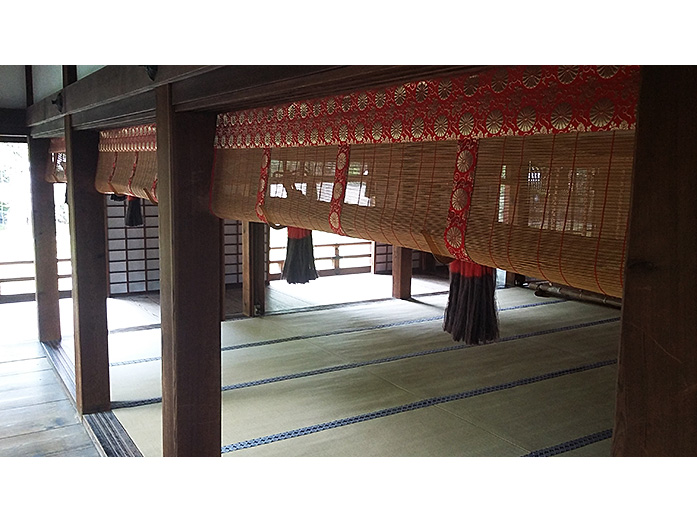 Inside Shinden Hall Shoren-in Temple in Kyoto